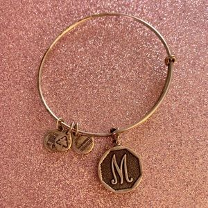 Alex and Ani letter M initial bracelet